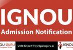 IGNOU Admission Notification, Fees, Prospectus, Procedure