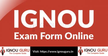 IGNOU Exam Form Online