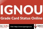 IGNOU Grade Card Calculator & IGNOU Grade Card Status